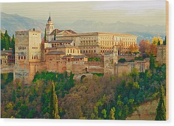 The Alhambra  Wood Print