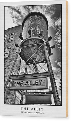 Wood Print featuring the digital art The Alley  by Greg Sharpe