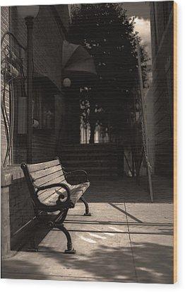 The Alleyway Wood Print by Ayesha  Lakes