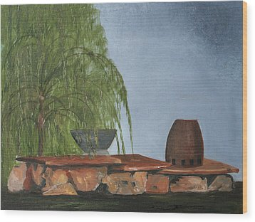 Wood Print featuring the painting The Alter by Jane Autry