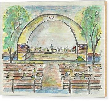 The Amazing Worthington City Band Wood Print