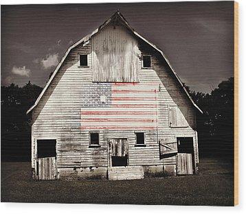 The American Farm Wood Print by Julie Hamilton