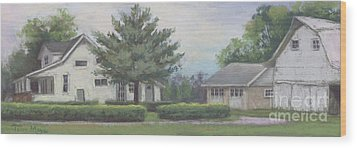 The Amerine Farm Wood Print by Terri  Meyer