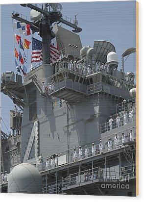 The Amphibious Assault Ship Uss Boxer Wood Print by Stocktrek Images