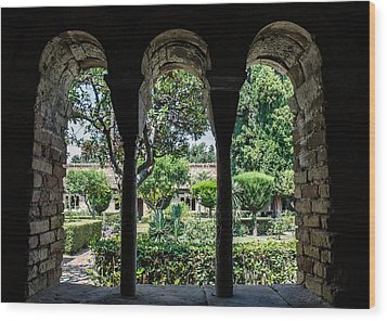 The Ancient Cloister Wood Print