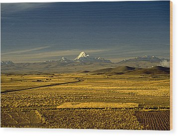 The Andes Wood Print by Michael Mogensen