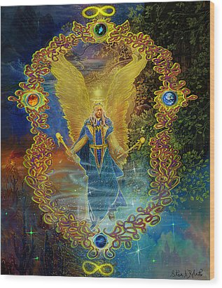 The Angel Michael Wood Print