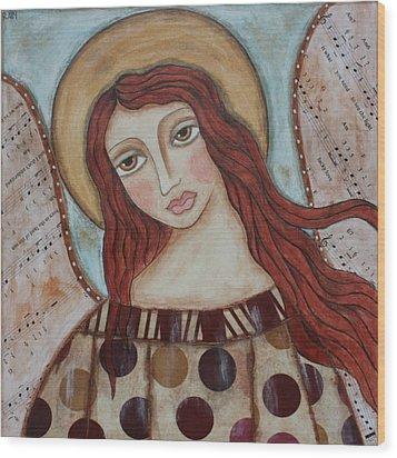 The Angel Of Hope Wood Print by Rain Ririn