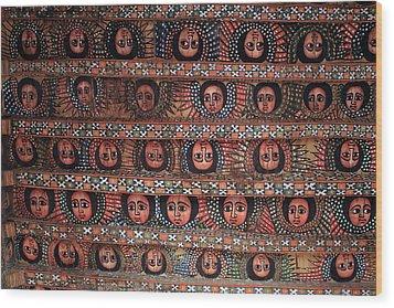 The Angels Of Debre Birhan Selassie Church Wood Print