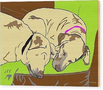 The Angels Sleep Wood Print by Su Humphrey