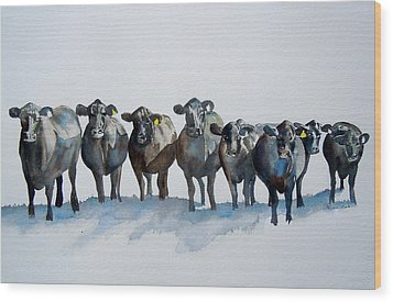 The Angus Eight Wood Print by Sharon Mick