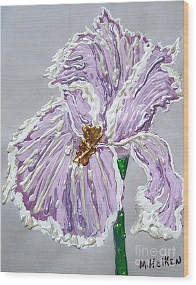The Anne- Elizebeth Iris Wood Print