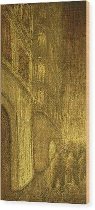 The Annex Wood Print by Jaylynn Johnson