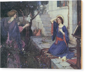 The Annunciation Wood Print by John William Waterhouse