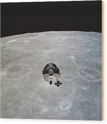 The Apollo 10 Command And Service Wood Print by Stocktrek Images