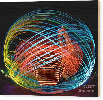 Wood Print featuring the photograph The Apollo At Dorney Park by Mark Miller