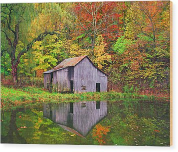 The Appalachian Reflection Wood Print