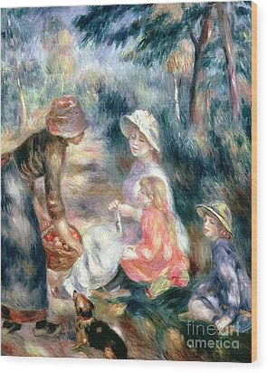 The Apple-seller Wood Print by Pierre Auguste Renoir