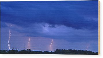The Approching Storm Wood Print by Mark Fuller