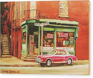 The Arcadia Five And Dime Store Wood Print by Carole Spandau