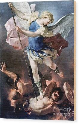 The Archangel Michael Wood Print by Granger