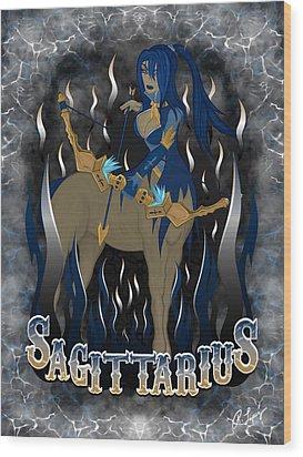The Archer Sagittarius Spirit Wood Print