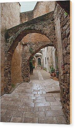 The Archways Of Villecroz Wood Print by Jacqi Elmslie