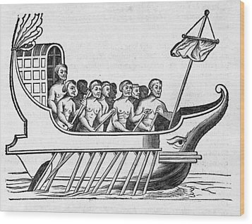 The Argo, 17th Century Artwork Wood Print by Middle Temple Library