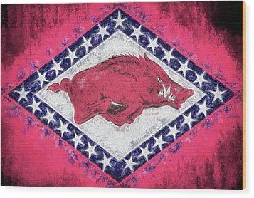 The Arkansas Razorbacks Wood Print by JC Findley