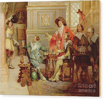 The Arrival Of D'artagnan Wood Print by Alex de Andreis
