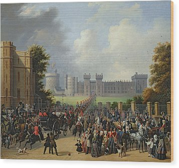 The Arrival Of Louis-philippe Wood Print by Edouard Pingret