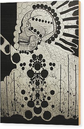 The Art Of Abstraction Wood Print by Michael Kulick