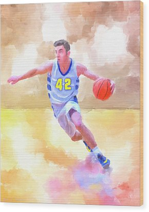Wood Print featuring the painting The Art Of Basketball by Mark Tisdale
