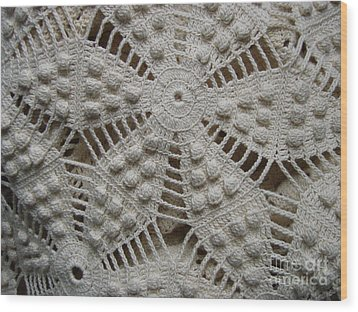 The Art Of Crochet  Wood Print by Kristine Nora