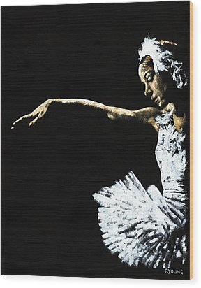 The Art Of Grace Wood Print by Richard Young