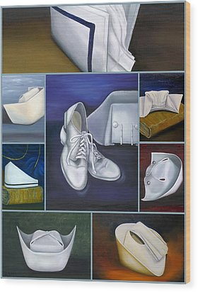 Wood Print featuring the painting The Art Of Nursing by Marlyn Boyd