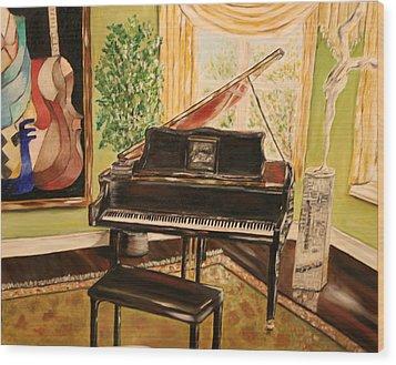 The Art Room Wood Print by Dyanne Parker