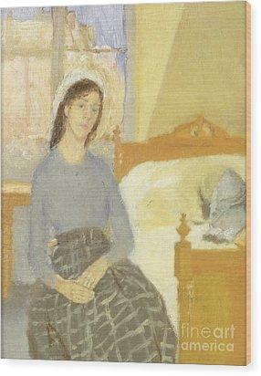 The Artist In Her Room In Paris Wood Print by Gwen John