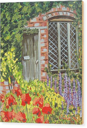 The Artist's Cottage Wood Print by Laurie Morgan