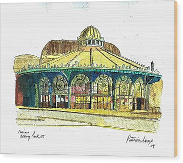 The Asbury Park Casino Wood Print