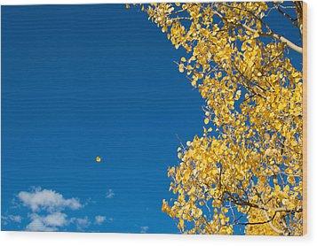 The Aspen Leaf Wood Print