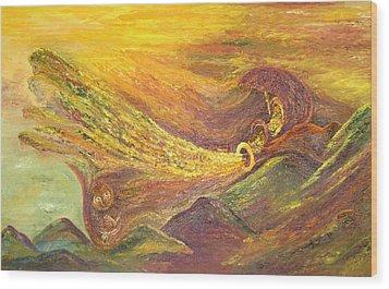 The Autumn Music Wind Wood Print by Karina Ishkhanova