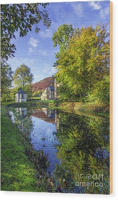 Wood Print featuring the photograph The Autumn Pond by Ian Mitchell