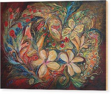 The Autumn Wind Wood Print by Elena Kotliarker