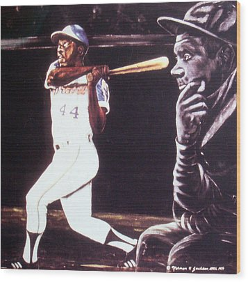 The Babe Looks On Wood Print by Norman F Jackson
