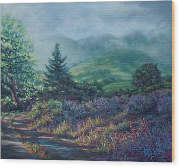 The Back Road In Wood Print