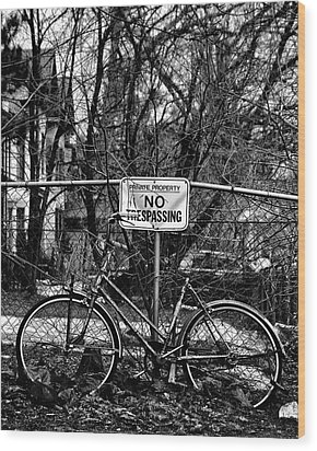 Wood Print featuring the photograph The Bad Bicycle No 2 by Brian Carson