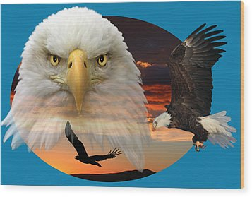Wood Print featuring the photograph The Bald Eagle 2 by Shane Bechler
