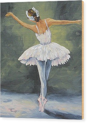 The Ballerina II   Wood Print