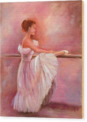 The Ballerina Wood Print by Sally Seago
